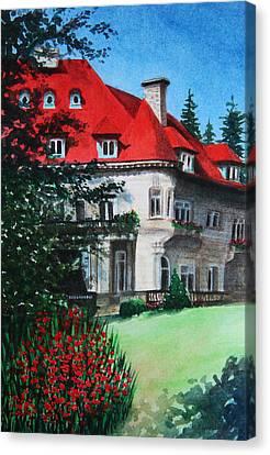 Pittock Mansion - Portland Oregon Canvas Print by Kerri Ligatich