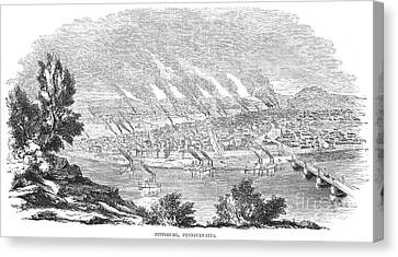 Pittsburgh, 1855 Canvas Print by Granger