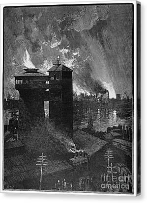 Pittsburgh: Blast Furnaces Canvas Print by Granger