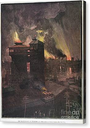 Pittsburgh: Furnaces, 1885 Canvas Print by Granger