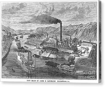 Pittsburgh: Iron Mills Canvas Print by Granger