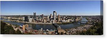 Pittsburgh Panoramic Canvas Print by Teresa Mucha
