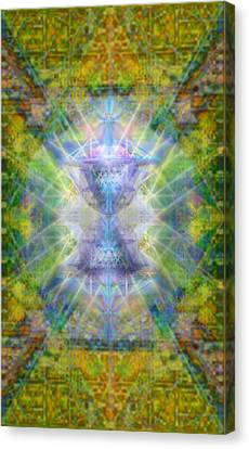 Pivortexspheres Lt On Chalicell Garden Tapestry Iv Canvas Print by Christopher Pringer