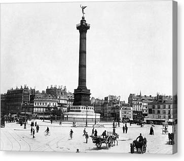 Place De La Bastille Canvas Print by Granger