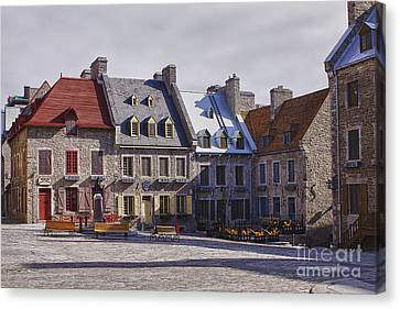 Canvas Print featuring the photograph Place Royale by Eunice Gibb