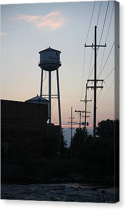 Canvas Print featuring the photograph Plainwell Paper Mill II by Penny Hunt
