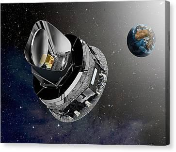 Planck Space Observatory, Artwork Canvas Print by David Ducros