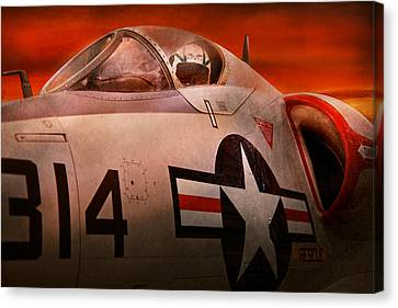 Plane - Pilot - Airforce - Go Get Em Tiger  Canvas Print by Mike Savad