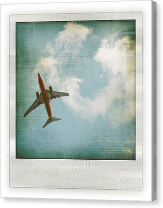 Vintage Airplane Canvas Print - Plane by HD Connelly