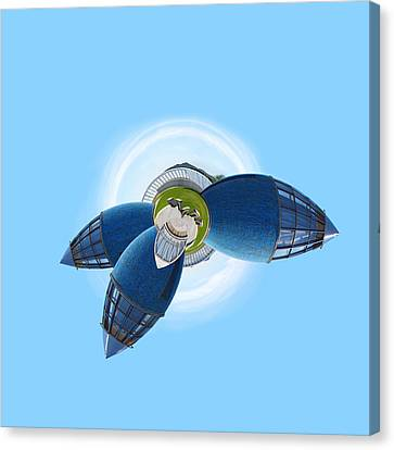 Planet Bonn Canvas Print by Design Windmill