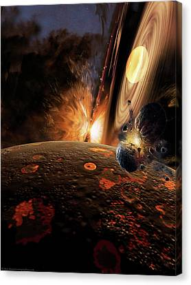 Planet Formation Canvas Print by Don Dixon