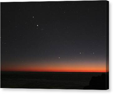 Planetary Conjunction, Optical Image Canvas Print by Eckhard Slawik