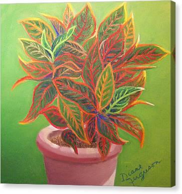 Canvas Print featuring the pastel Plant Portrait II by Diane Ferguson