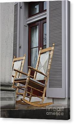Plantation Rocking Chairs Canvas Print by Carol Groenen
