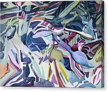 Plastic Torment Canvas Print by Mindy Newman