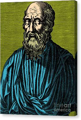 Plato, Ancient Greek Philosopher Canvas Print by Photo Researchers