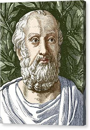Rational Canvas Print - Plato, Ancient Greek Philosopher by Sheila Terry