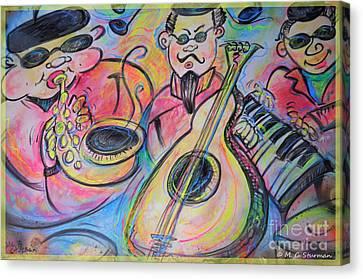 Play The Blues Canvas Print by M C Sturman