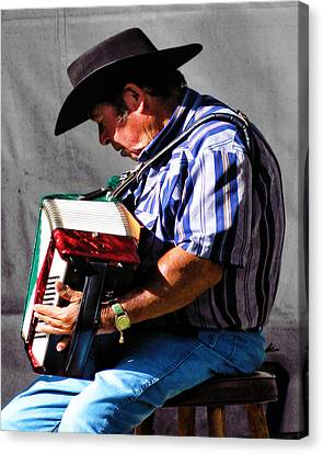 Playing For Taos Canvas Print by Terry Fiala