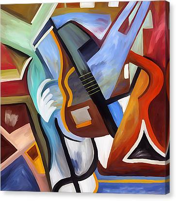 Playing Guitar Canvas Print by Amarok A