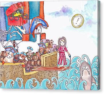 Playing Pirates Canvas Print by Jenny Valdez
