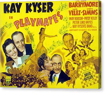 Playmates, John Barrymore, Kay Kyser Canvas Print by Everett