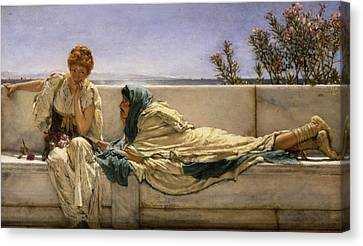 Pleading Canvas Print by Sir Lawrence Alma-Tadema