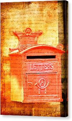 Please Mr Postman... Canvas Print by Taschja Hattingh