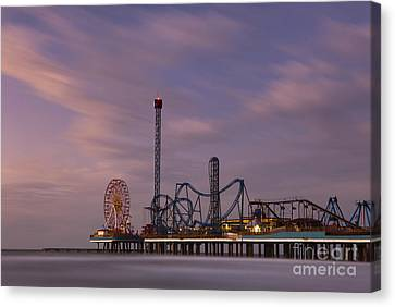 Pleasure Pier Amusement Park Galveston Texas Canvas Print by Keith Kapple