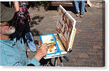 Plein Air At Aspen  Canvas Print