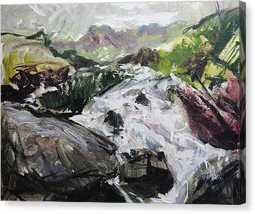 Plein Air In Snowdonia Canvas Print