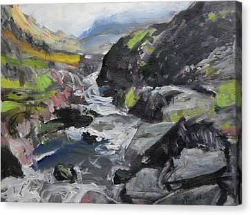 Plein Air Sketch At Ogwen Snowdonia Canvas Print