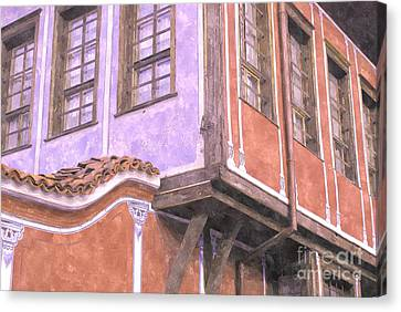 Plovdiv Old Town Canvas Print by Hristo Hristov