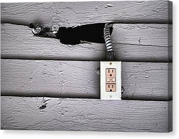 Plug In- Out Canvas Print