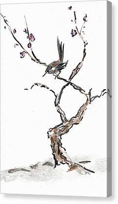 Plum Blossoms Canvas Print by Ellen Miffitt
