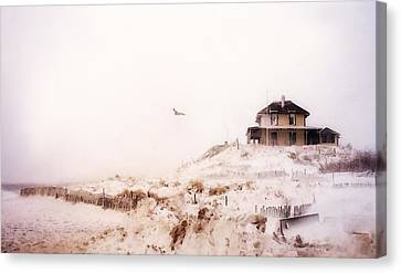 Plum Island Winter Canvas Print by Karen Lynch