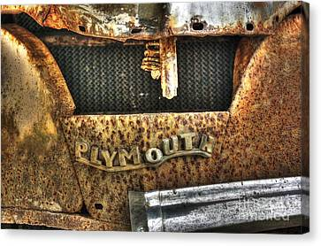 Plymouth Logo Relic Canvas Print by Dan Stone