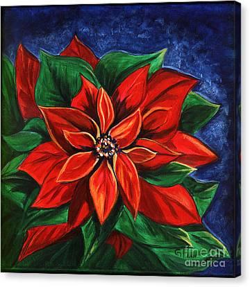 Poinsetta Canvas Print