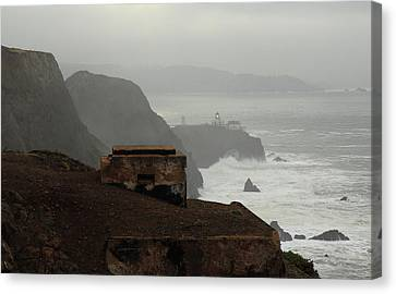 Canvas Print featuring the photograph Point Bonita Lighthouse And Battery by Scott Rackers