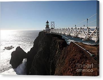 Point Bonita Lighthouse In The Marin Headlands - 5d19673 Canvas Print