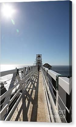 Point Bonita Lighthouse In The Marin Headlands - 5d19677 Canvas Print