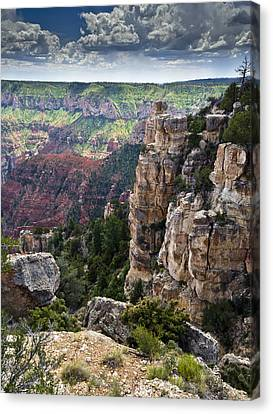 Point Imperial Cliffs Grand Canyon Canvas Print by Gary Eason