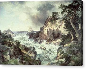 Point Lobos At Monterey In California Canvas Print by Thomas Moran
