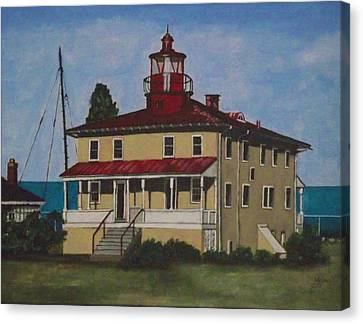 Point Lookout Lighthouse Md Canvas Print by Kim Selig