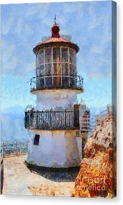 Point Reyes Lighthouse In California . 7d16008 Canvas Print by Wingsdomain Art and Photography