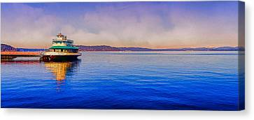 Canvas Print featuring the photograph Point Ruston Awaiting by Ken Stanback