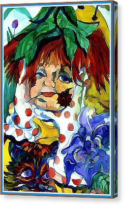 Pokadot Gloves Canvas Print by Mindy Newman