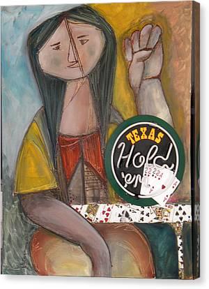 Poker Lady Canvas Print by Miriam Besa