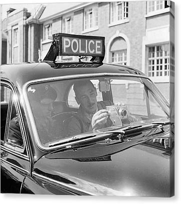 Police Camera Action Canvas Print
