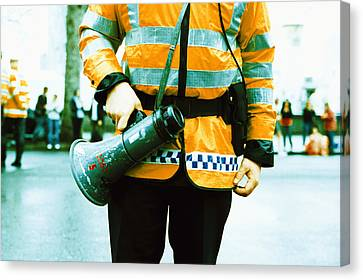 Police Officer Canvas Print by Kevin Curtis
